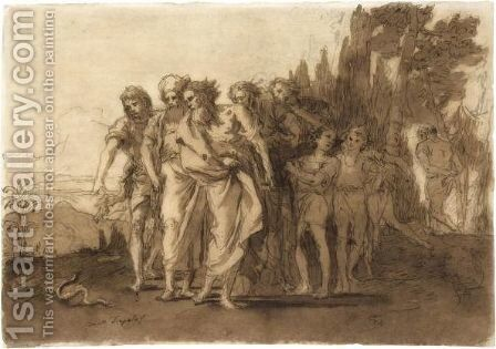 Moses And Aaron by Giovanni Domenico Tiepolo - Reproduction Oil Painting