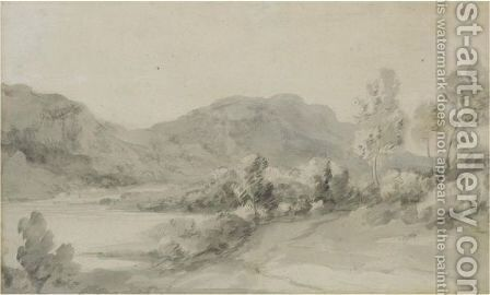 A View In The Lake District by Thomas Gainsborough - Reproduction Oil Painting