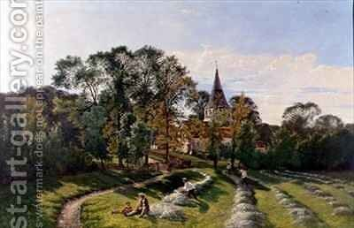 Shere Church, Surrey by Edwin Henry Boddington - Reproduction Oil Painting