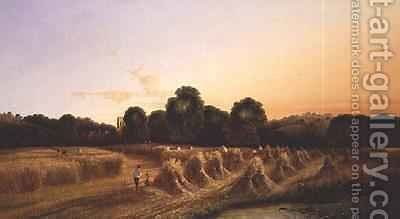 Evening Harvest by Edwin Henry Boddington - Reproduction Oil Painting