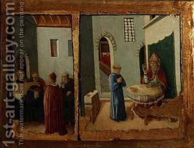 Two Scenes from the life of St. Savino by Giovanni Boccati - Reproduction Oil Painting