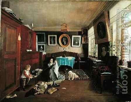 Interior by Aleksei Alekseevich Bobrov - Reproduction Oil Painting