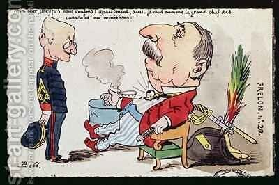 Caricature depicting the pardon of Captain Dreyfus by Bobb - Reproduction Oil Painting