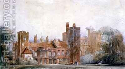 Old North Front, Lambeth Palace by Edward Blore - Reproduction Oil Painting
