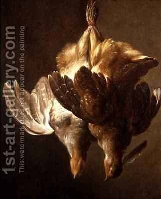 Still Life of Two Partridges by Matthew Bloem - Reproduction Oil Painting