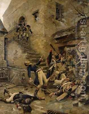 Death of General Beaupuy by Alexandre Bloch - Reproduction Oil Painting