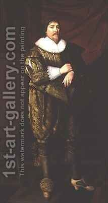 Portrait of Henry de Vere, 18th Earl of Oxford by Abraham van Blijenberch - Reproduction Oil Painting
