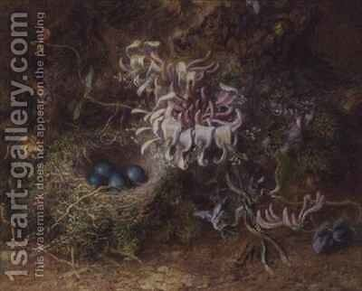 Bird's Nest and Honeysuckle by Jabez Bligh - Reproduction Oil Painting