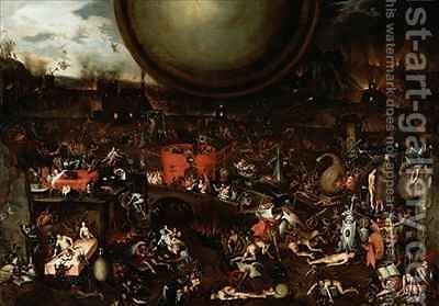 The Inferno 2 by Herri met de Bles - Reproduction Oil Painting