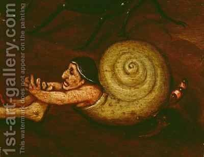 The Inferno, detail of a half-man, half-snail by Herri met de Bles - Reproduction Oil Painting