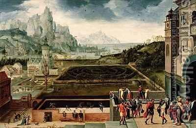 The Story of David and Bathsheba by Herri met de Bles - Reproduction Oil Painting