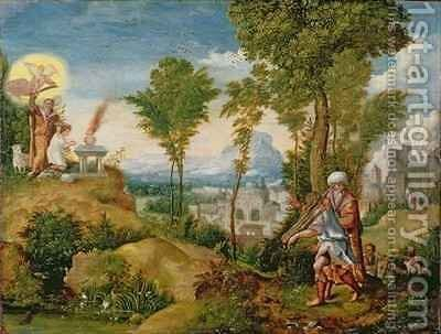 The Sacrifice of Isaac by Herri met de Bles - Reproduction Oil Painting