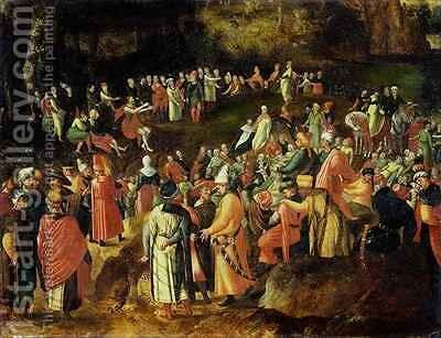 St. John the Baptist Preaching to the Mulititude by Herri met de Bles - Reproduction Oil Painting
