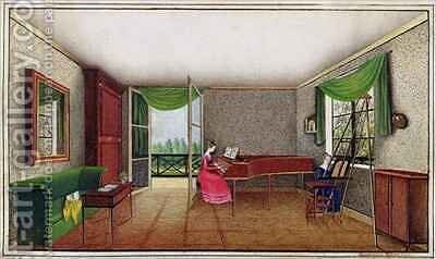 A Russian Interior by Micheline Blenarska - Reproduction Oil Painting