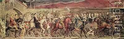 Chaucer's Canterbury Pilgrims by (after) William Blake - Reproduction Oil Painting