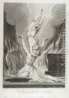 The Reunion of the Soul and the Body by (after) William Blake - Reproduction Oil Painting