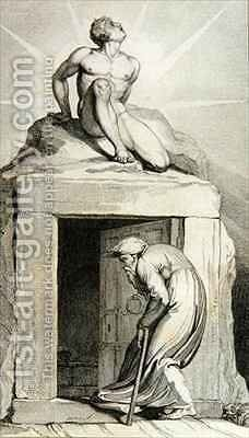 Death's Door by (after) William Blake - Reproduction Oil Painting