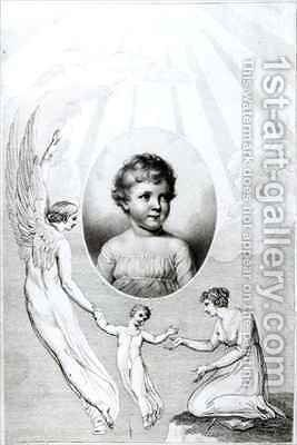 Mary Wollstonecraft Shelley (1797-1851) as a child by (after) William Blake - Reproduction Oil Painting