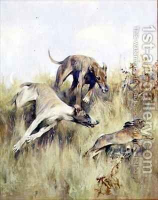Coursing at Mayhill by B. Blake - Reproduction Oil Painting