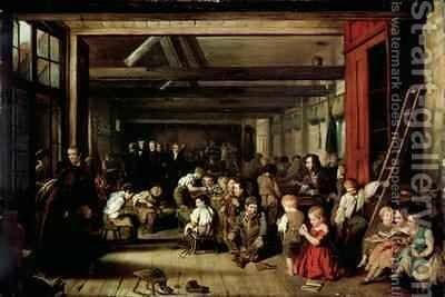 The First Ragged School, Westminster by (after) Blaikley, Alexander - Reproduction Oil Painting