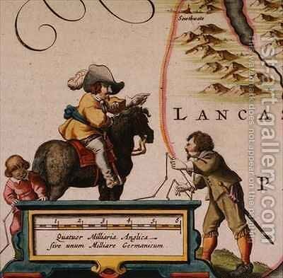 "Surveyors, from ""Atlas Major"" by Joan Blaeu - Reproduction Oil Painting"