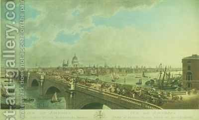 View of London taken from Albion Place, Blackfriars Bridge by (after) Black, N.R. - Reproduction Oil Painting