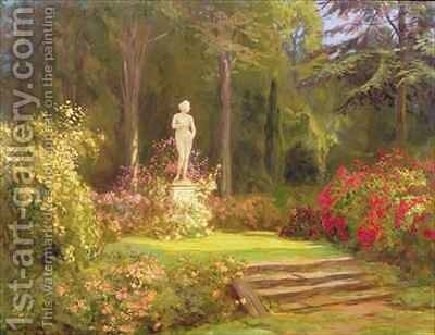 The Rose Garden by Arthur John Black - Reproduction Oil Painting