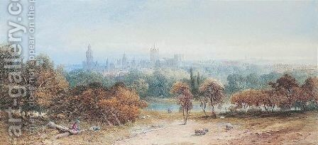 St James's Park Looking Towards Westminster by Edward M. Richardson - Reproduction Oil Painting