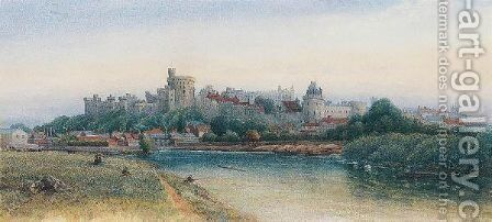 Windsor Castle From The Thames by James Burrell Smith - Reproduction Oil Painting