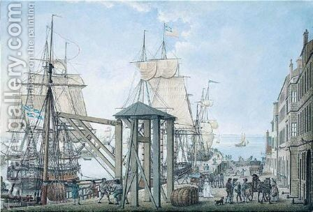 Falmouth Harbour by Henry Brocas - Reproduction Oil Painting