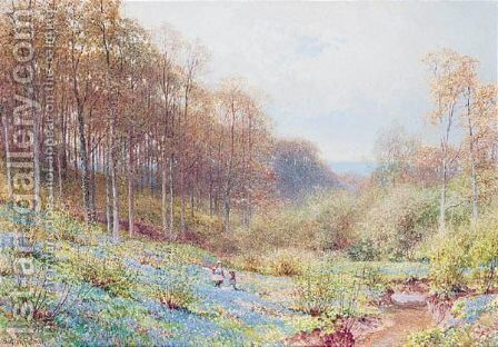 The Bluebell Wood by Harry Sutton Palmer - Reproduction Oil Painting