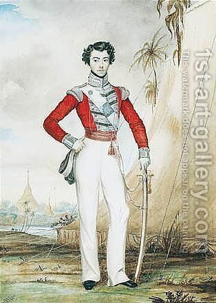 Portrait Of Captain Edward Thomas Coke Of The 45th Regiment While Serving At Rangoon, Burma In 1826 by Edward Thomas Coke - Reproduction Oil Painting