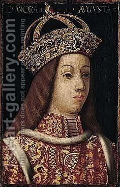 Portrait of eleanor of portugal (1434-1467) by (after) Hans The Elder Burgkmair - Reproduction Oil Painting