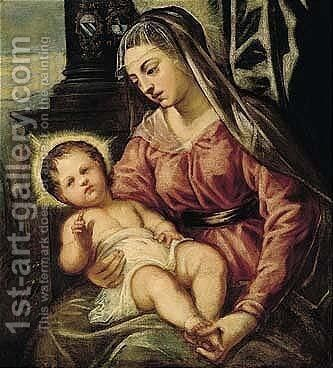The Madonna And Child by Jacopo Tintoretto (Robusti) - Reproduction Oil Painting