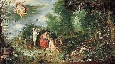 Hendrick Van Balen by Jan, the Younger Brueghel - Reproduction Oil Painting