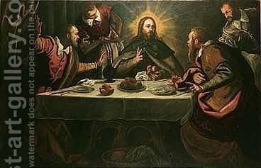 The Supper At Emmaus by Domenico Tintoretto (Robusti) - Reproduction Oil Painting
