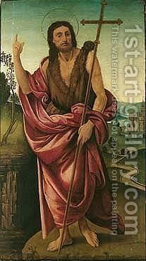Saint John the baptist in a landscape by The Master Of The Campana Cassoni - Reproduction Oil Painting