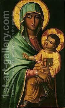 Madonna and child by Adriatic School - Reproduction Oil Painting