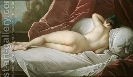 A reclining female nude by (after) Vanloo, Jean Baptiste - Reproduction Oil Painting
