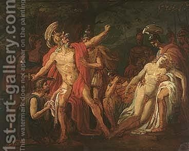 The Death Of Patroclus by Antoine-Jean Gros - Reproduction Oil Painting