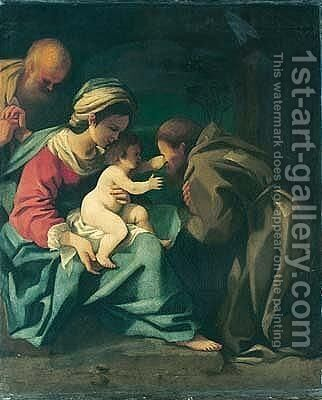The Holy Family With Saint Francis Adoring The Christ Child by Bartolomeo Schedoni - Reproduction Oil Painting