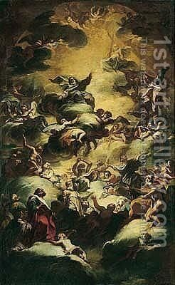 The Glorification Of Christ by (after) Nicolo Maria Russo Or Rossi - Reproduction Oil Painting