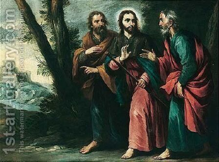 Christ On The Road To Emmaus by (after) Alonso Cano - Reproduction Oil Painting