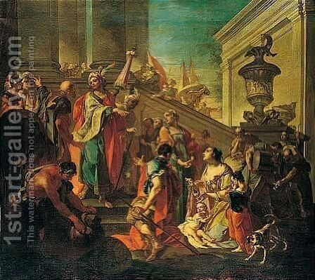The Family Of Darius Before Alexander by (after) Francesco Monti - Reproduction Oil Painting