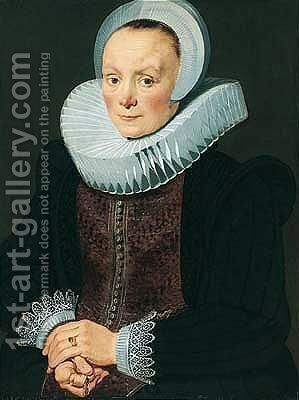 Portrait of a lady 4 by Dutch School - Reproduction Oil Painting