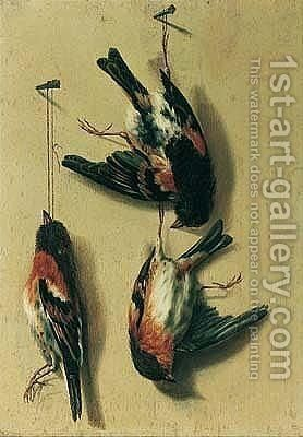 Still Life Of Song Birds by (after) William Gouw Ferguson - Reproduction Oil Painting