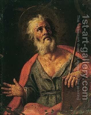 Saint Thomas by (after) Pietro Bardellino - Reproduction Oil Painting