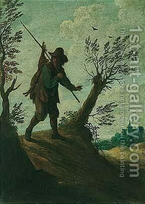 The poacher by (after)  David The Younger Teniers - Reproduction Oil Painting