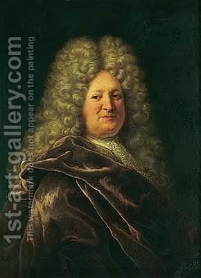 Portrait of a gentleman 4 by (after) Hyacinthe Rigaud - Reproduction Oil Painting