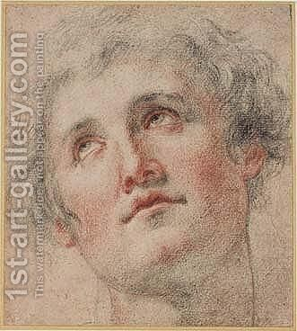 Head Of Young Man Looking Up by Matteo Rosselli - Reproduction Oil Painting